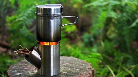 民间牛人发明小火炉, 不用油不用电, 户外做饭比