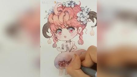 可爱Q手帐画法画画绘画教学简笔画日系漫画