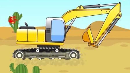 挖掘机工作表演视频 大卡车玩具 推土机 吊车 搅拌车 飞机 汽车玩具1