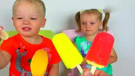 亲子丨益智: 萌宝吃冰棍认颜色之姿势 育儿色彩早教