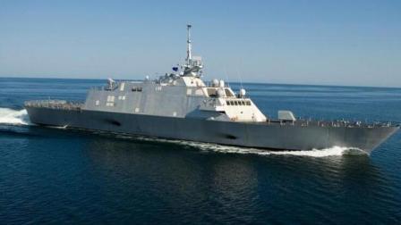 美国濒海战斗舰45节时速海上狂飙