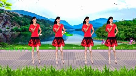 河北青青广场舞《青青河边草》16步附教学, 70年代怀旧金曲, 歌甜舞美, 简单好学