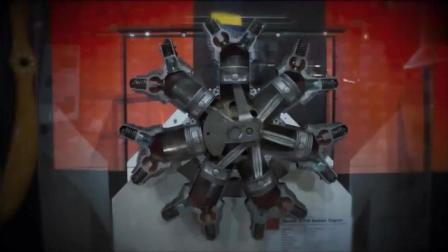 飞机的星型发动机是怎么工作的, 视频慢放让你一