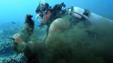 巨型章鱼喷墨你见过? 国外男子遭章鱼连续喷墨