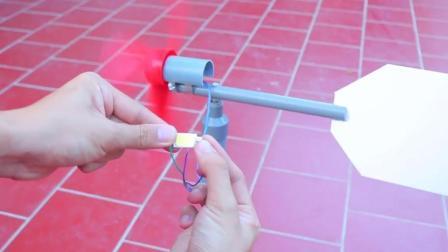 牛人用塑料管制作了个风扇 这创意真的棒极了