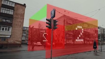 老外发明的虚拟信号墙, 专治闯红灯行为, 比红绿灯更有效