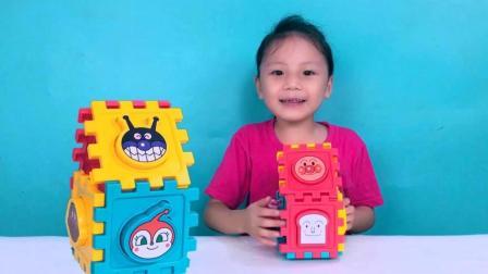另一剧场:儿童玩具 面包超人形状配对, 积木玩具, 拼装魔方