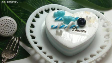 蓝色简约手工纸黏土蛋糕教程