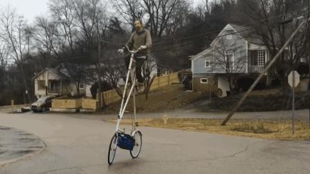 不会武功不敢骑, 3米高的自行车, 一不小心就凉了!