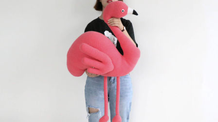毛儿手作-火烈鸟钩针玩偶毛线编织视频教程三好看的编织视频