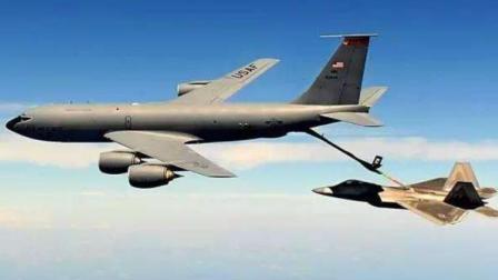 KC135空中加油机硬管空中加油