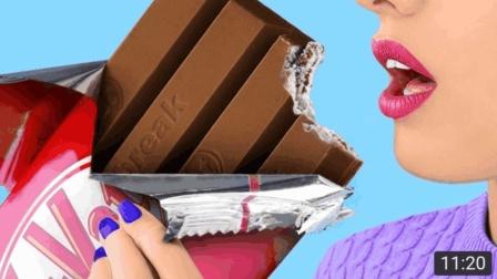 食物恶作剧, 巨型巧克力块, 吃货闺蜜每天玩出新花样