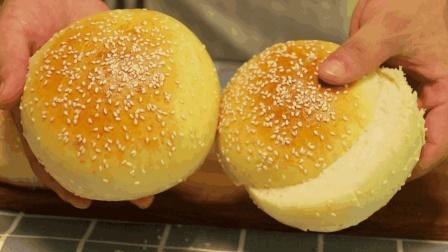 教您在家做美味的汉堡坯, 自制营养健康无添加, 做法超简单, 几分钟就学会