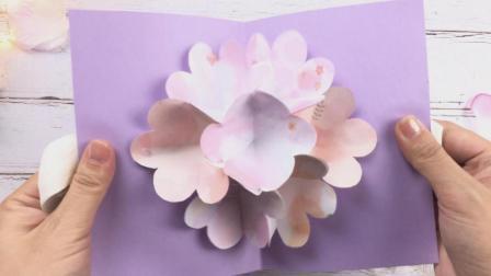 简单又漂亮的教师节手工贺卡制作, 还会开花哦