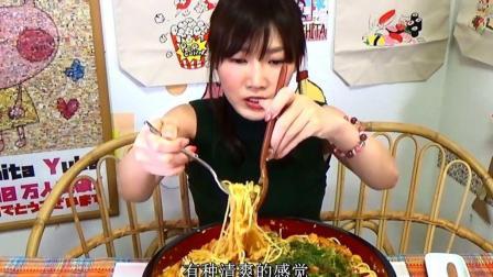 大胃王木下佑香: 自制美味大虾鲜奶油蕃茄意大利面
