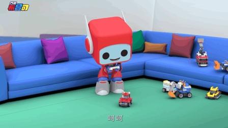 益智动画: 直升机遥控小汽车玩具应有尽有 鲁鲁变身吊车帮助快递叔叔把卡车拉回公路
