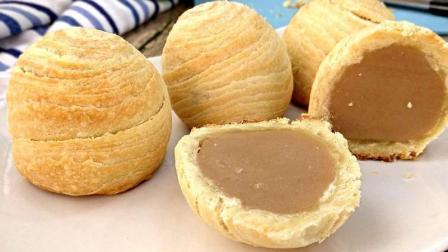 自制芋泥千层酥皮月饼 (烘烤版)的做法, 皮酥里嫩口感很好