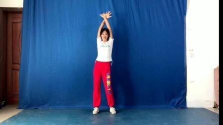 阿采原创广场舞 一步一步教您跳 瘦腹《健身操》有背面学更容易