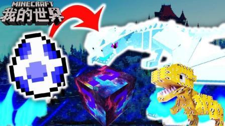 少云我的世界幸运方块搞笑视频大合集 第一季 挖掘幸运方块祭坛 获得冰霜巨龙蛋 孵化出竟是这个