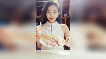 昨天晚上的视频, 吃的面包新语三款面包, 最爱红豆芋包