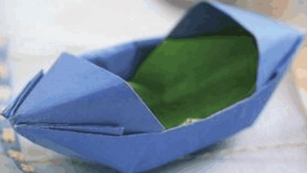 最简单的纸船折纸方法, 你小时候也是这样折船的吗? 简单又好看