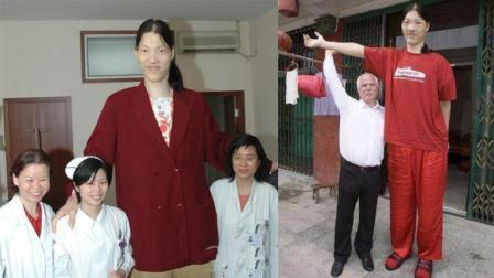 世界第一女巨人  比姚明高半个头  一顿吃半锅米饭 穿78码鞋子!