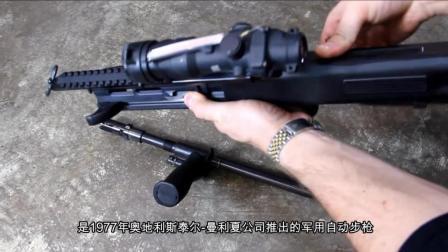 世界步枪排第四, CF中被广大玩家追捧, 斯泰尔AUG突击步枪.