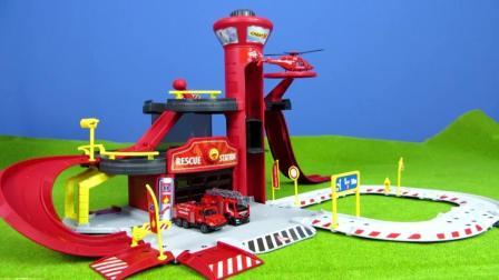 亲子益智玩具视频之组装小汽车的游乐场