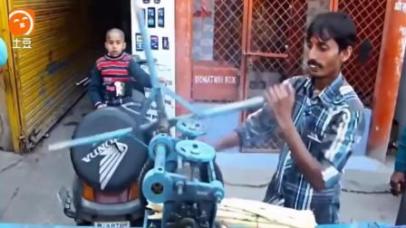 印度牛人这样榨甘蔗, 简直就是在开挂, 给你500块