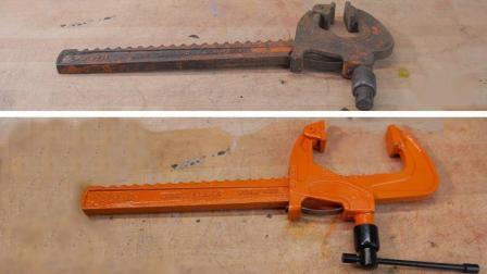 翻新一把几十年前的工具, 这种造型第一次见, 真佩服以前的技术