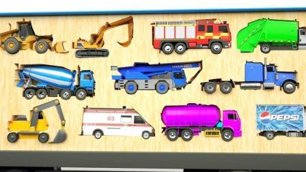 帮助工程车挖掘机小火车玩具寻找停车位