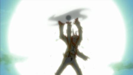 火影忍者: 鸣人一手风遁螺旋丸手里剑耍的有模有样, 可惜对手是最强雷影