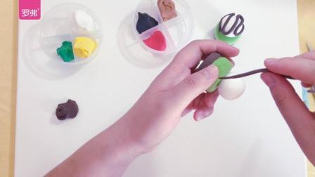 罗弗超轻粘土手工教程系列之玛德莲蛋糕抹茶冰激凌蛋糕