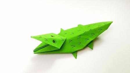 折纸王子折纸鳄鱼, 小朋友很喜欢的手工
