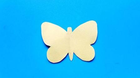儿童剪纸小课堂: 剪纸蝴蝶, 动手动脑, 一学就会