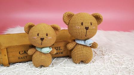 【汤小仙手作】第31集 大头动物系列—小熊玩偶教程