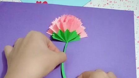 """手工折纸制作""""立体康乃馨贺卡"""", 下一个教师节贺卡提前准备起来吧!"""