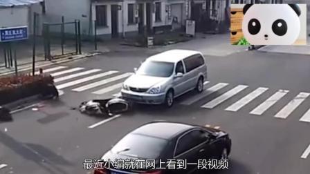 年幼儿童骑电动车横穿马路, 被大货车拖行9米远