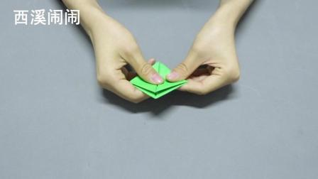 可以跳得又快又远的纸青蛙, 简单易学哦, 手工折纸教程