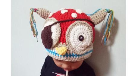 猫线团手工教你做简单好看的猫头鹰帽子, 新手也能学会