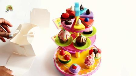 手工制作, 用橡皮泥制作精美的蛋糕套餐组合
