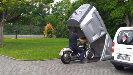 在地上装个塑料箱, 把摩托车电动车放里面, 不怕车被偷走