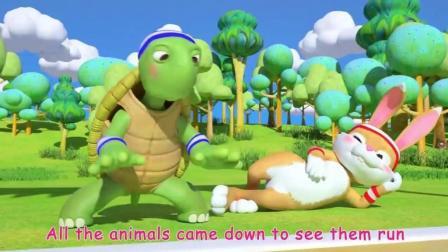 龟兔赛跑 趣味卡通儿歌 童谣 英文歌曲 少儿启蒙英语 早教音乐动画