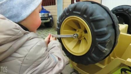 儿童电动吉普车动手拼装装配 儿童户外游戏运动 汽车模型玩具