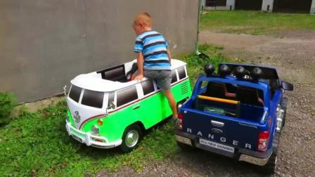 电动吉普车公共汽车坦克 动手组合拼装装配 儿童户外游戏运动 汽车模型玩具