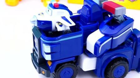 超级飞侠变形机器人多多迷你版变形飞机工程车玩具