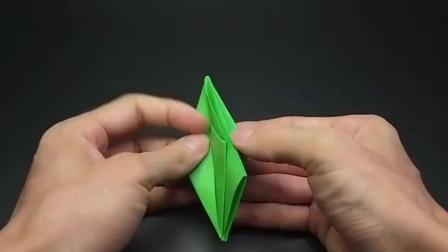 很可爱的立体青蛙, 步骤简单小朋友都喜欢, 手工折纸视频大全