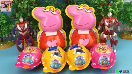 宣宇爱玩奇趣蛋玩具 第一季 奥特曼英雄拆汪汪队奇趣蛋 小猪佩琪玩具蛋