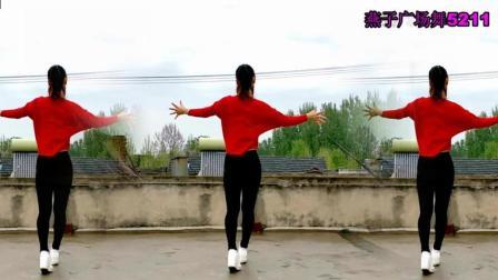燕子广场舞5211改编《又见山里红》纯音乐作曲: 祁隆  简单32步