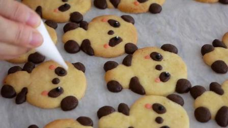 美味食谱, 超可爱的小熊熊猫饼干制作, 小孩子最喜欢萌萌的美食啦